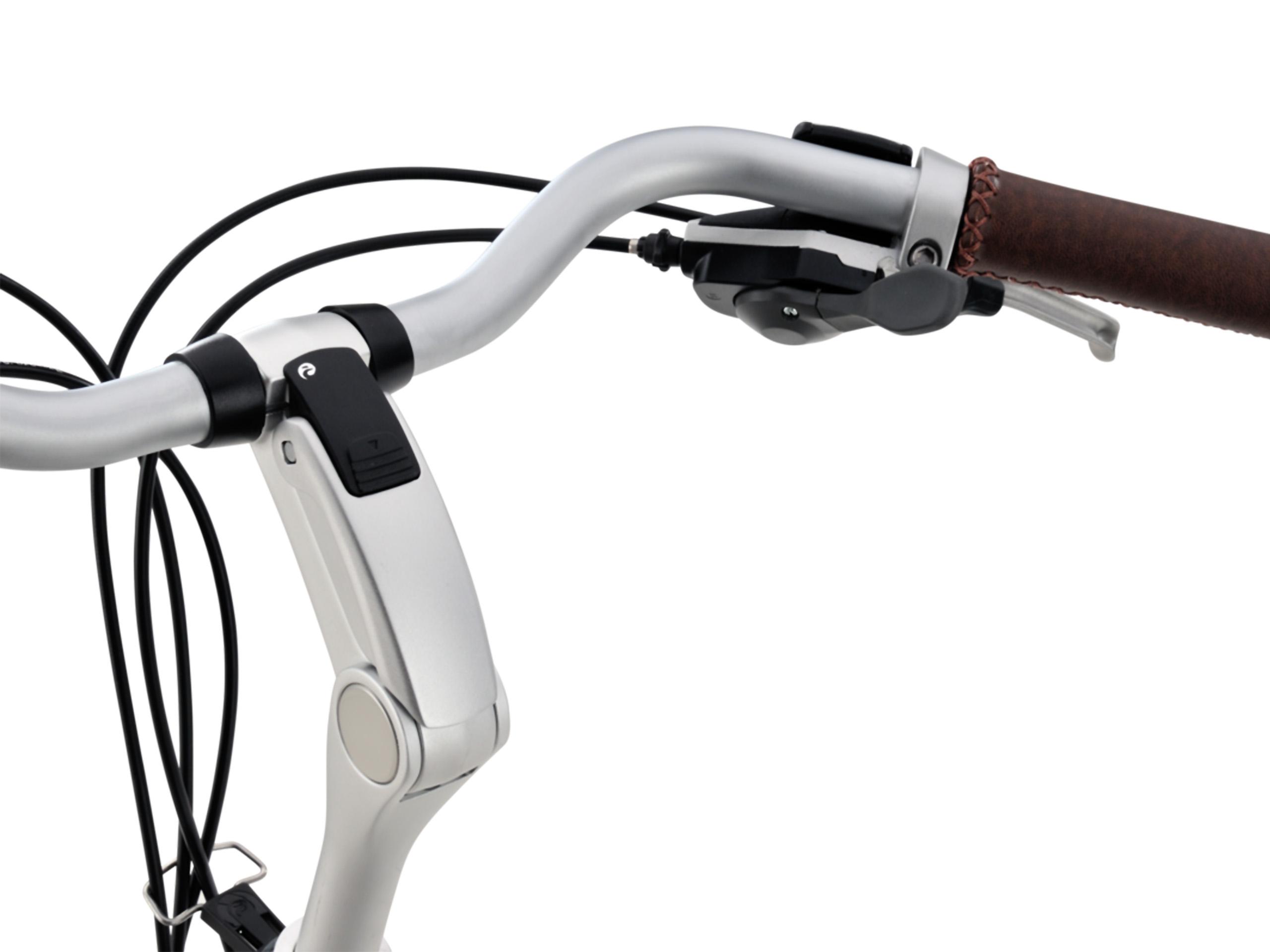 Batavus Ergomatic 3 verstelbare stuurpen. De lichtgewicht aluminium stuurpen heeft een innovatief gedeeltelijk zelfklemmend mechanisme.